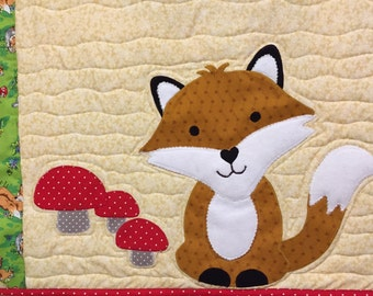 The Fox baby quilt pattern by Ellen Abshier of Laugh Sew Quilt