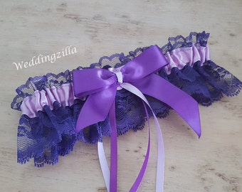 Lace Wedding Garter, Purple Wedding Garter, Prom Garter, Wedding Garter Belt, Wedding Garter, Bridal Garter, Purple Lavender Lace Garter