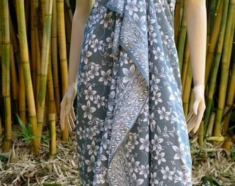 Grey Batik Sarong, Beach Sarong, Pareo