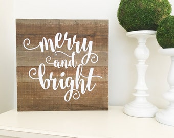 Merry and Bright Decal Christmas Decal Christmas Decor DIY Lettering for Chalkboard Decal for Chalkboard Merry and Bright Christmas Vinyl