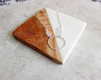 Herkimer Diamond Circle Necklace