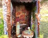Enchanted fairytale Stone Tower fairyhouse
