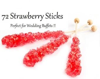 Strawberry Rock Candy Swizzle Sticks