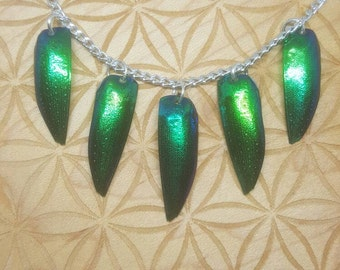 Beetle Wing Necklace
