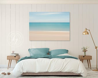 Beach Decor Canvas Gallery Wrap Abstract Ocean Photo Large Wall Art Caribbean