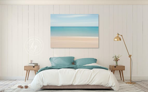 Matrimonio Bed Ocean : Beach decor canvas gallery wrap abstract ocean photo large