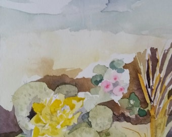 """Padre Island Series """" The Fore Dune of the Beach"""" original one of a kind watercolor"""