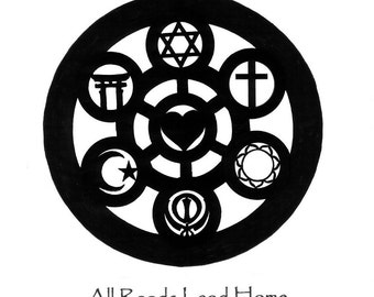 All Roads Lead Home Graphic Sticker, Spiritual Gift, Weather-proof, Free Shipping