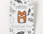 Fox Pin - Hard Enamel Pins - Woodland Animal Lapel Pin - Fox Jewelry - Foxes