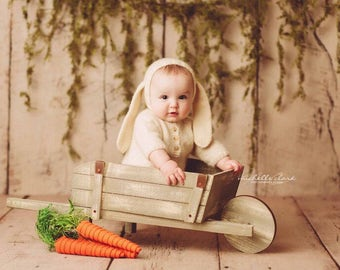 Bunny Bonnet - Floppy Ear Bunny - Floppy Bunny Ears - Easter Props - Sitter Props - Sitter Bonnet - Newborn Bunny Hat - Newborn Bunny Bonnet