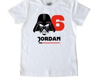 Star Wars Birthday Shirt - Darth Vader Birthday Shirt - Kids T-shirt - Toddler Birthday - Kids Birthday - Star Wars Gift - Youth Shirt