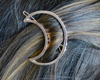 Moon Hair Barrette/Hair Pin - Rose Gold