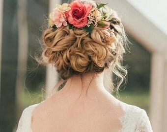 Fleur Rose Hair Comb