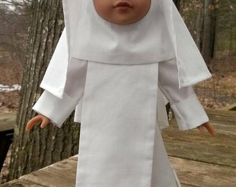 "Blessed Imelda Lambertini - Catholic Nun Habit for Wellie Wisher and Other 14"" Dolls - FREE SHIPPING"