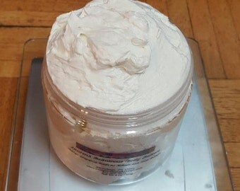 Whipped Body Butter/Perfect Pomegranate/ Lauren's Beauteous Body Butters/All Natural Whipped Body Butter/Skin Loving Butter/8 oz Body Butter