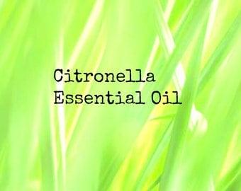 Organic Citronella Essential Oil | Pure Citronella Essential Oil | Natural Insect Repellent | Natural Bug Spray | Essential Oil
