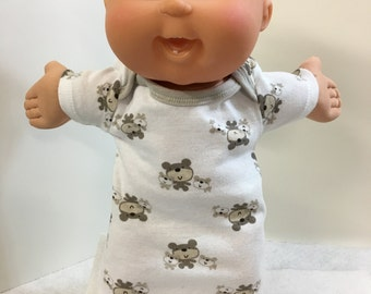 "Cabbage Patch 14 inch BABY BOY or Smaller 14"" Kids, Cute ""Teddy BEAR Family"" Nightshirt, Cabbage Patch Baby 14"" Doll, I Love My Teddy Bear!"