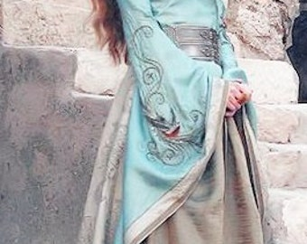 Cersei Lannister Game of Thrones Custom made costume ligth blue dress