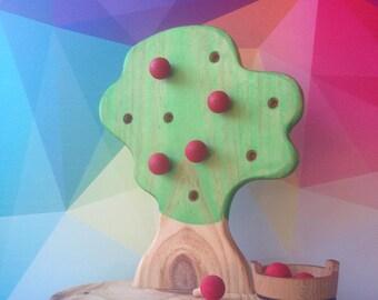 Apple tree, Educational, Montessori toy,