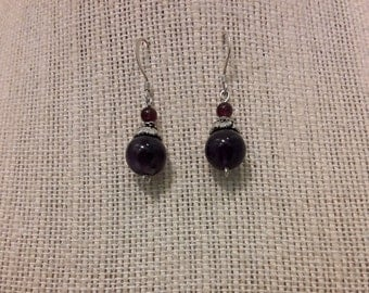 Sterling Silver and Semi Precious Stone Earrings