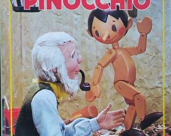 Vintage 1970 Pinocchio Puppet Storybook