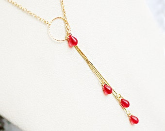gift/for/her gold red necklace gift/for/girlfriend red jewelry gold pendant necklace bohemian jewelry gift/for/wife statement necklace д4