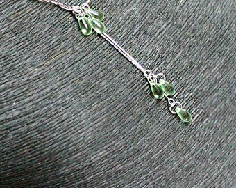 lime necklace green pendant silver jewelry green y necklace girlfriend gift/for/wife drop necklace adjustable jewelry gift/for/daughter д6