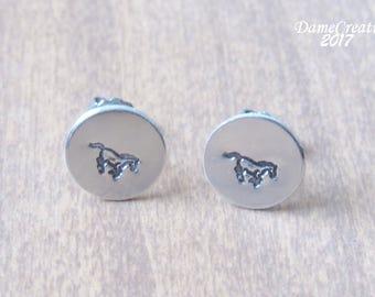 Horse Earrings Stud Earrings Silver Jewelry, Horse Jewelry Womens Gift, Horse Earrings for Girls Jewelry, Equestrian Wedding Gifts
