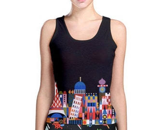 Women's It's A Small World Inspired Tank Top