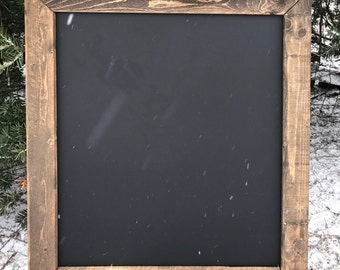 Square Rustic Framed Chalkboard Sign, Rustic Wedding, Wedding Sign, Framed Chalkboard - All Sizes!