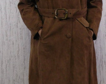 Vintage suede midi coat Skin Hornan English Leather