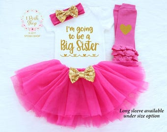 Big Sister Announcement Shirt, I'm Going to be a BIG Sister, New Big Sister, Big Sister Shirt, Big Sister Gift, Big Sister Outfit FB11