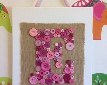 Personalised Button Letters - Made To Order