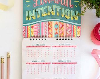 2017 Encouragement Calendar, Office Art Decor Under 15, Gift for Women Coworker, Housewarming Gift for Her, Hostess Gift for Mother in Law