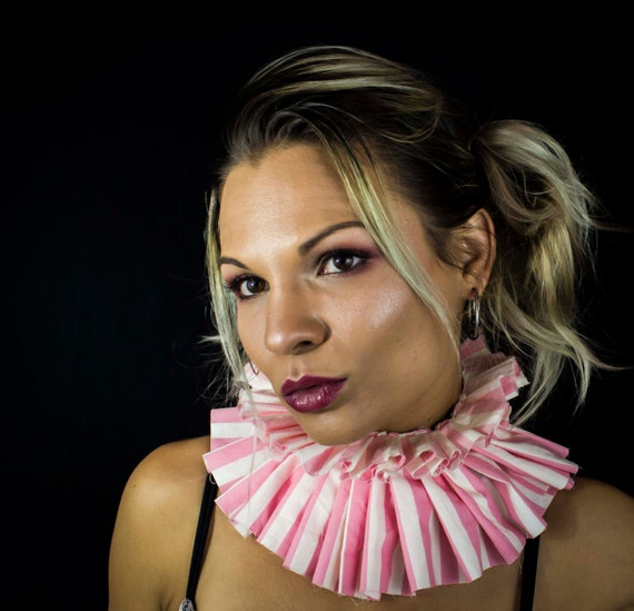 Pink and White striped Circus Collar