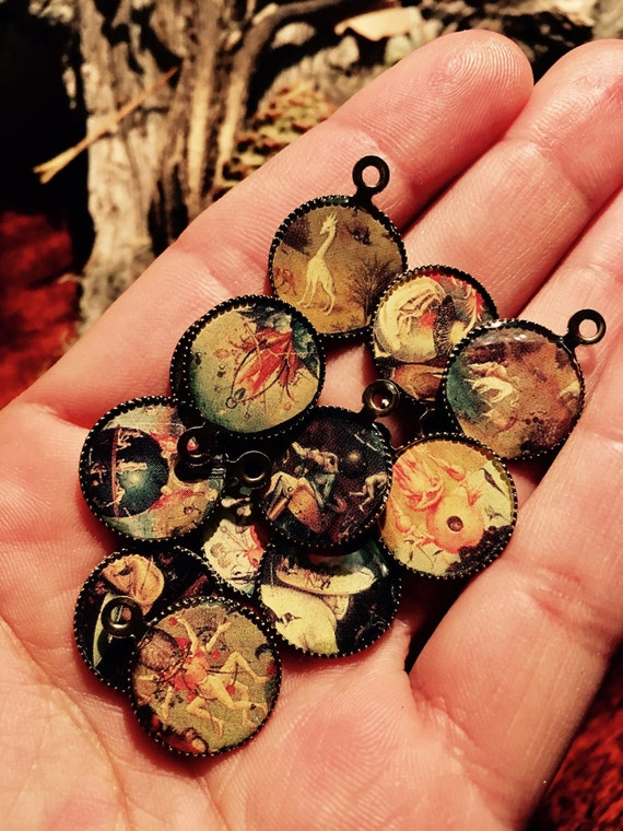 Hieronymus Bosch - Garden of Earthly Delights - Silver Resin Cameos