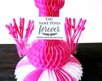 Same Penis Forever, Penis party straws, kit, Bachelorette Party,  Bachelorette Party supplies, decorations, personalized party decor