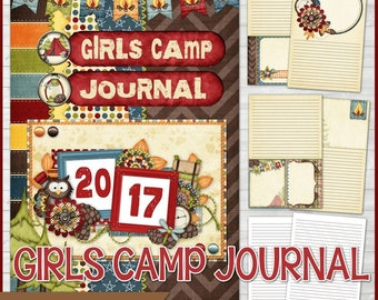 Printable GIRLS CAMP Journal, Young Women Camp Journal, yw Notebook, yw Journal, LDS Young Women - Printable Instant Download