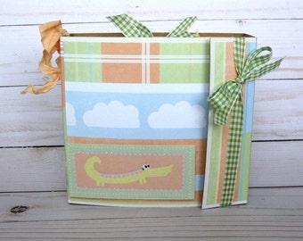 Baby Scrapbook Album Baby Safari Boy Girl Mini Album Baby Memory book Baby Animals Shower Gift, Photo Album Gift For Mom