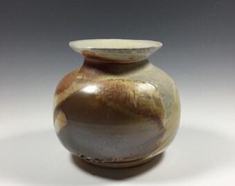 Brown Vase - Rustic Vase - Wood Fired