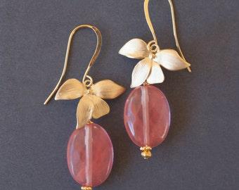 PEACH ORCHID Earrings