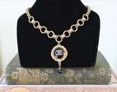 Chanel Necklace, Choker, Drop Choker Necklace, Black Enamel, Beautiful Christmas Gifts Jewelry, Chanel Button Jewelry veryDonna