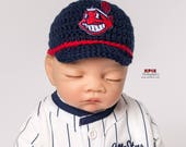Cleveland Indians baby boy, girl, hat, newborn,preemie size available