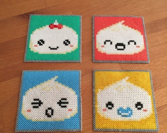 Cute hama beads coasters
