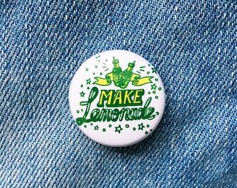 Make lemonade typographic badge