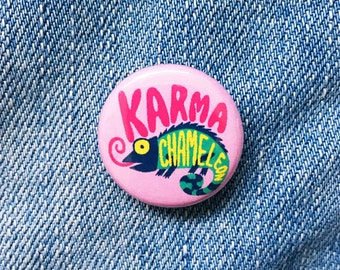Karma chameleon typographic badge