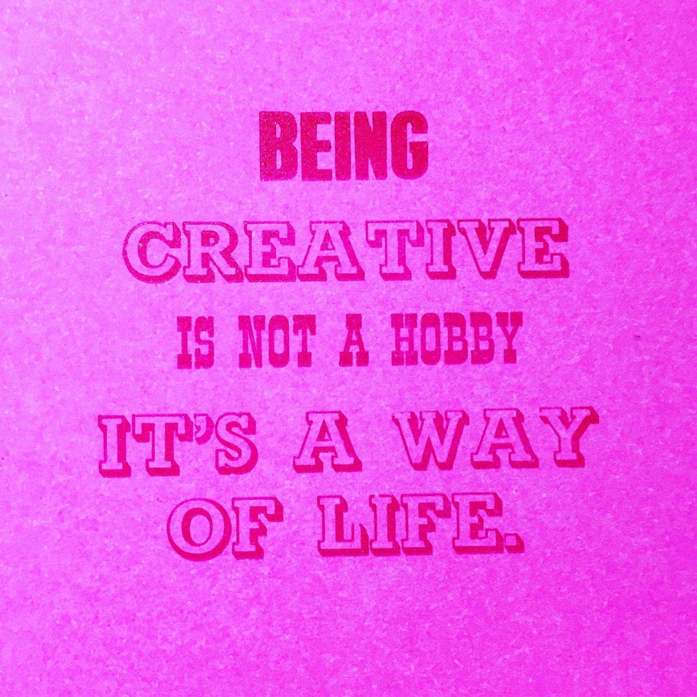 Creativity print