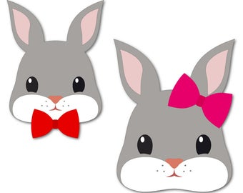 Easter bunny svg | bunny face svg | easter bunny | bunny svg | easter decorations | easter svg | files for cricut | dxf files | bunny kids