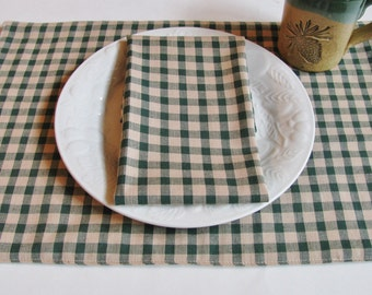 Green/Tan Checkered Placemats