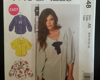 Mc Call's 6648 - Misse's blouses sewing pattern -size U.S 6-14